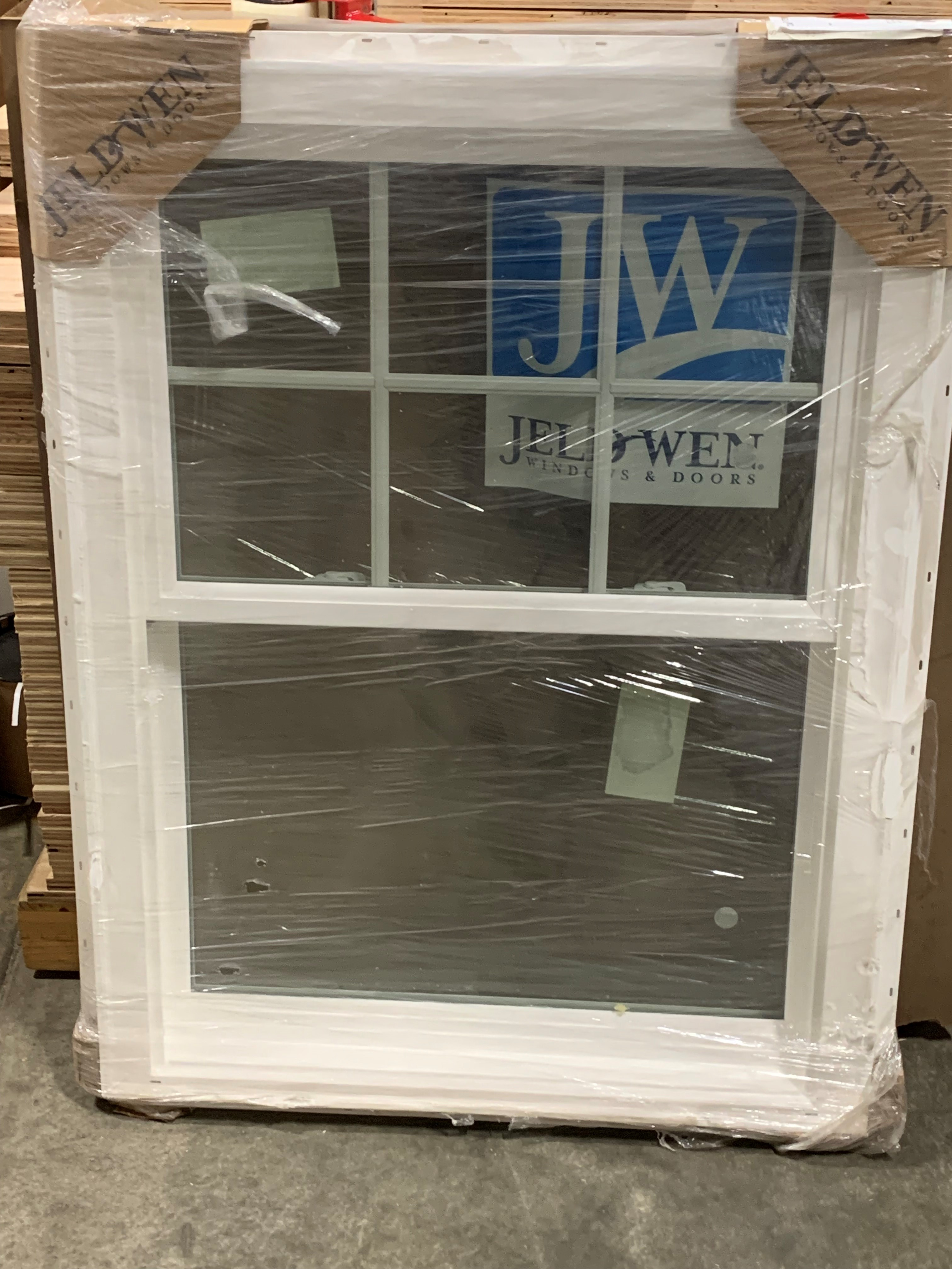 JELD WEN Brickmold Vinyl DH Window Tempered