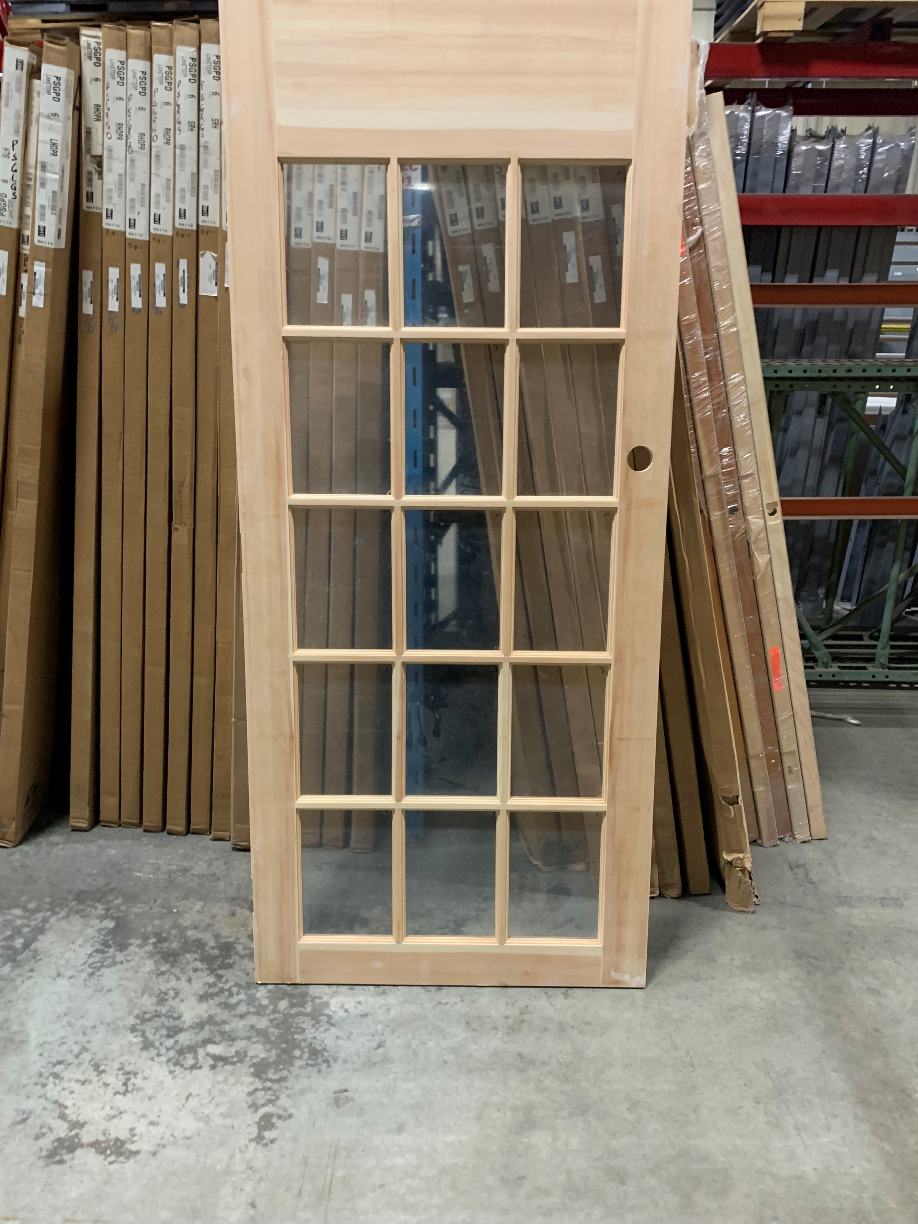 Brosco 3-0x7-0 Clear Pine 15 Lite Door Slab