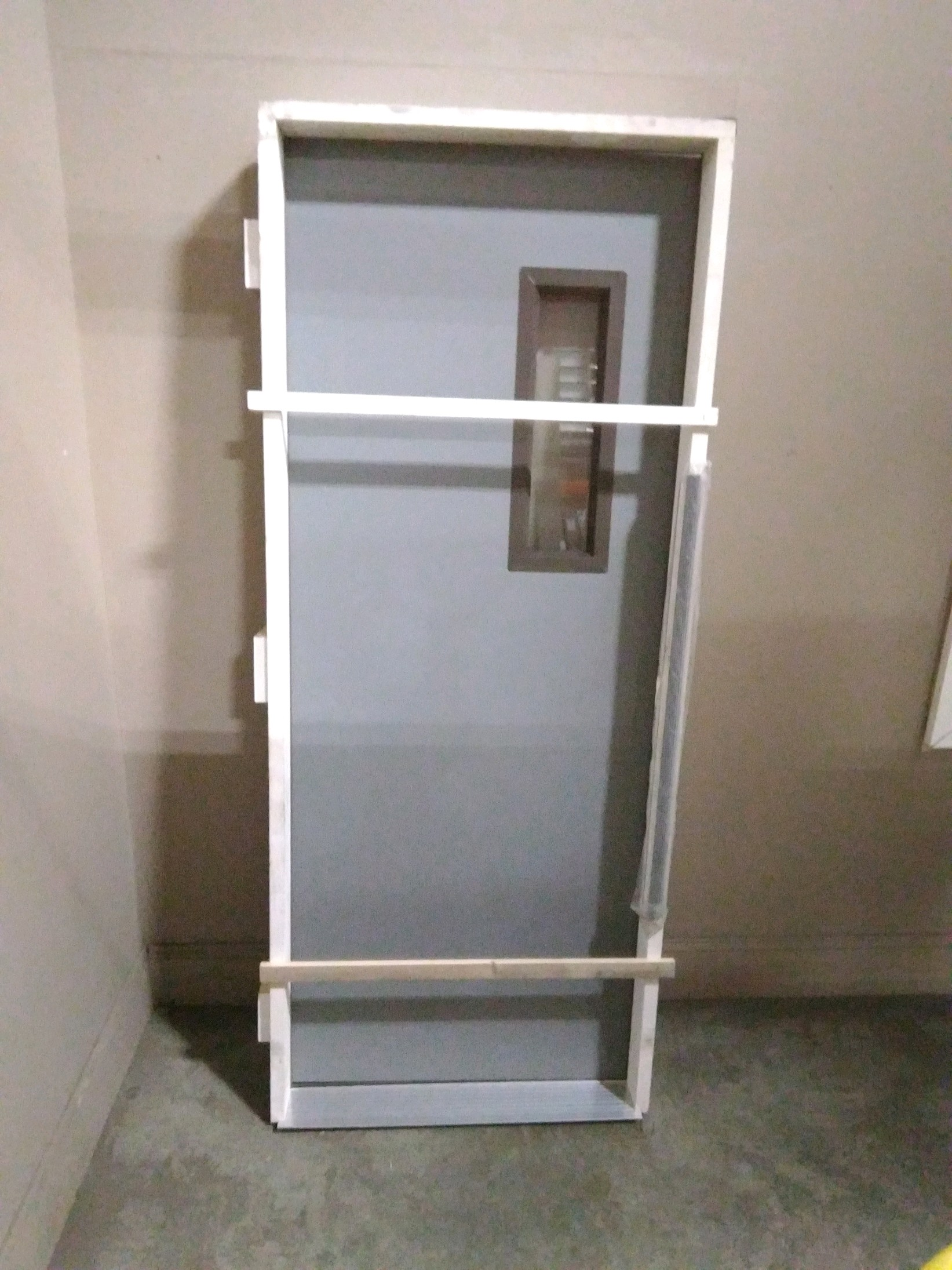2868 Flush Steel Door W/5x20 Light