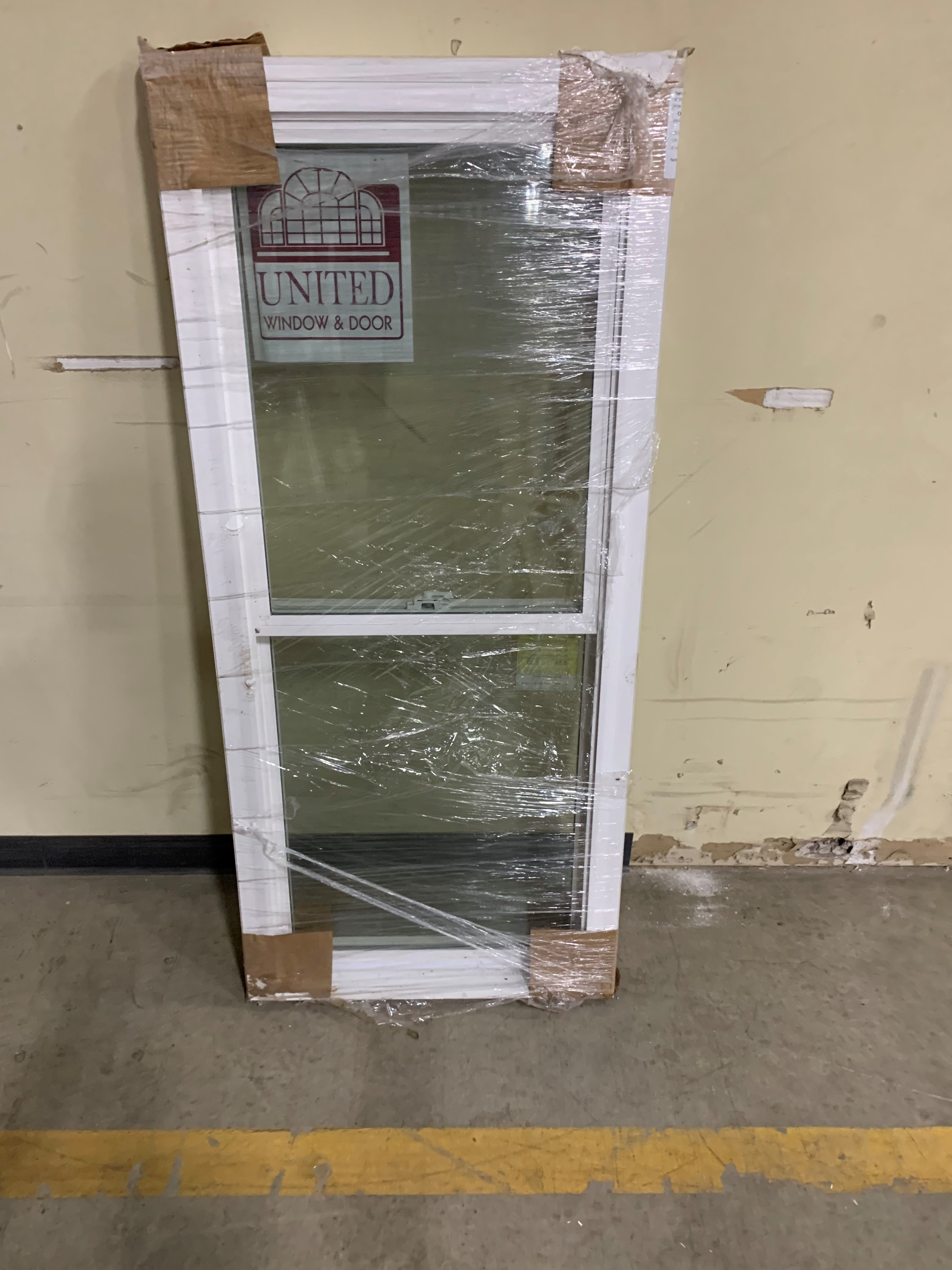 UNITED 26x58 Vinyl DH Window Full Glass