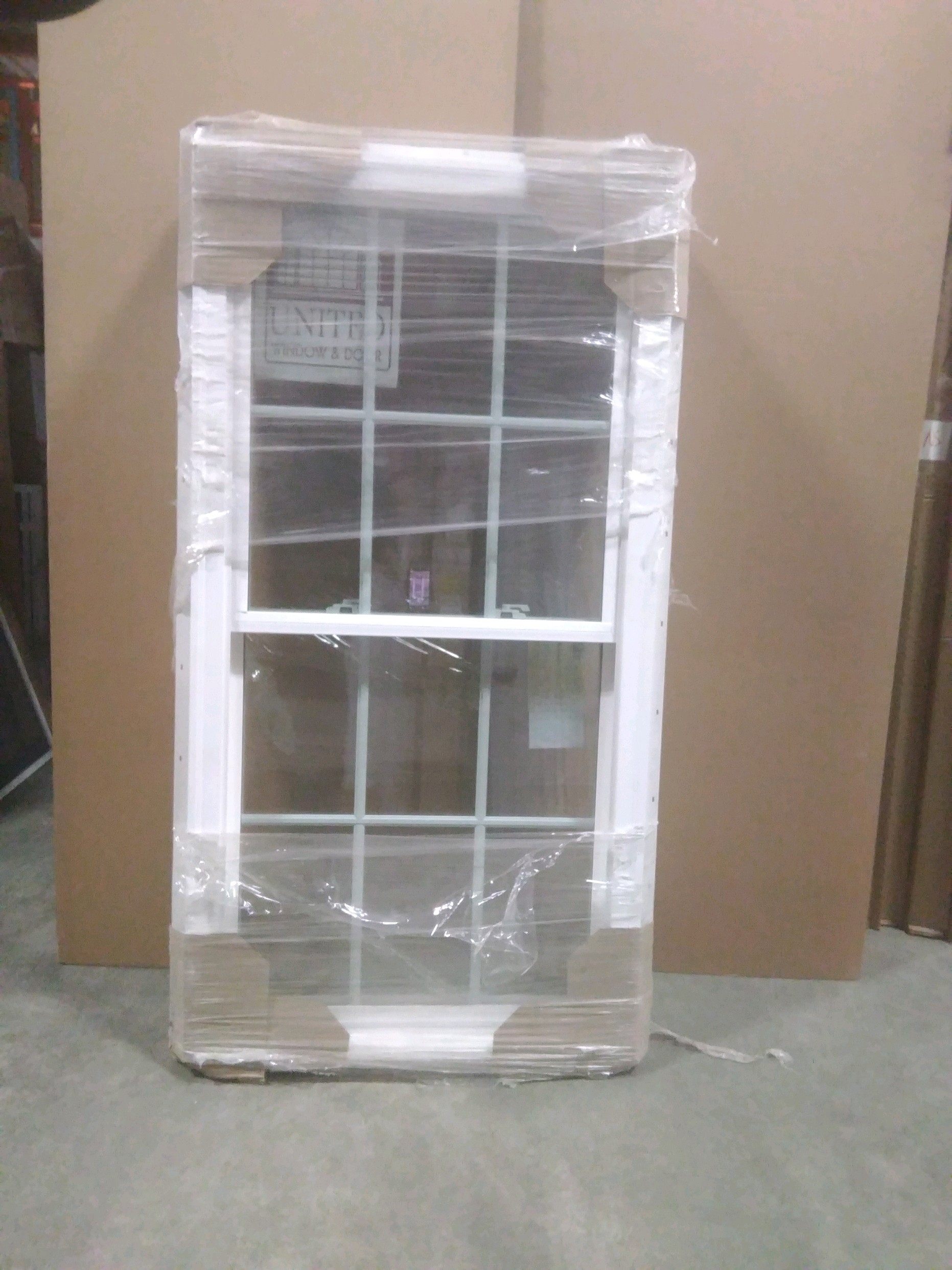 United 29 1/2 x 56 3/4 Vinyl Window