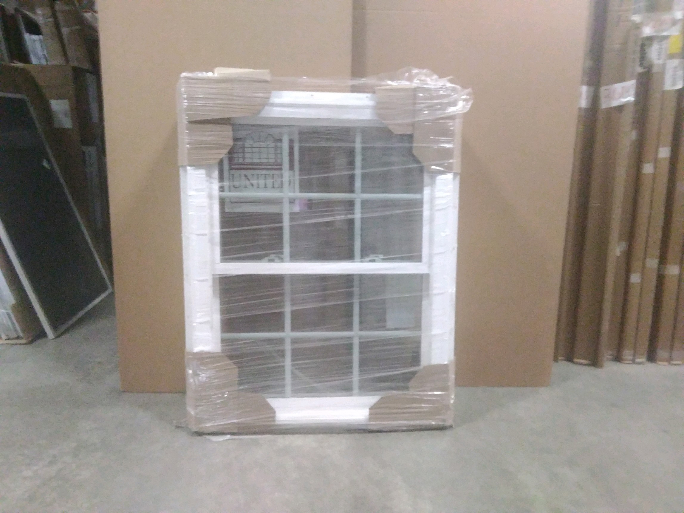 United 31 1/2 x 39 1/2 Vinyl Window  6 9/16
