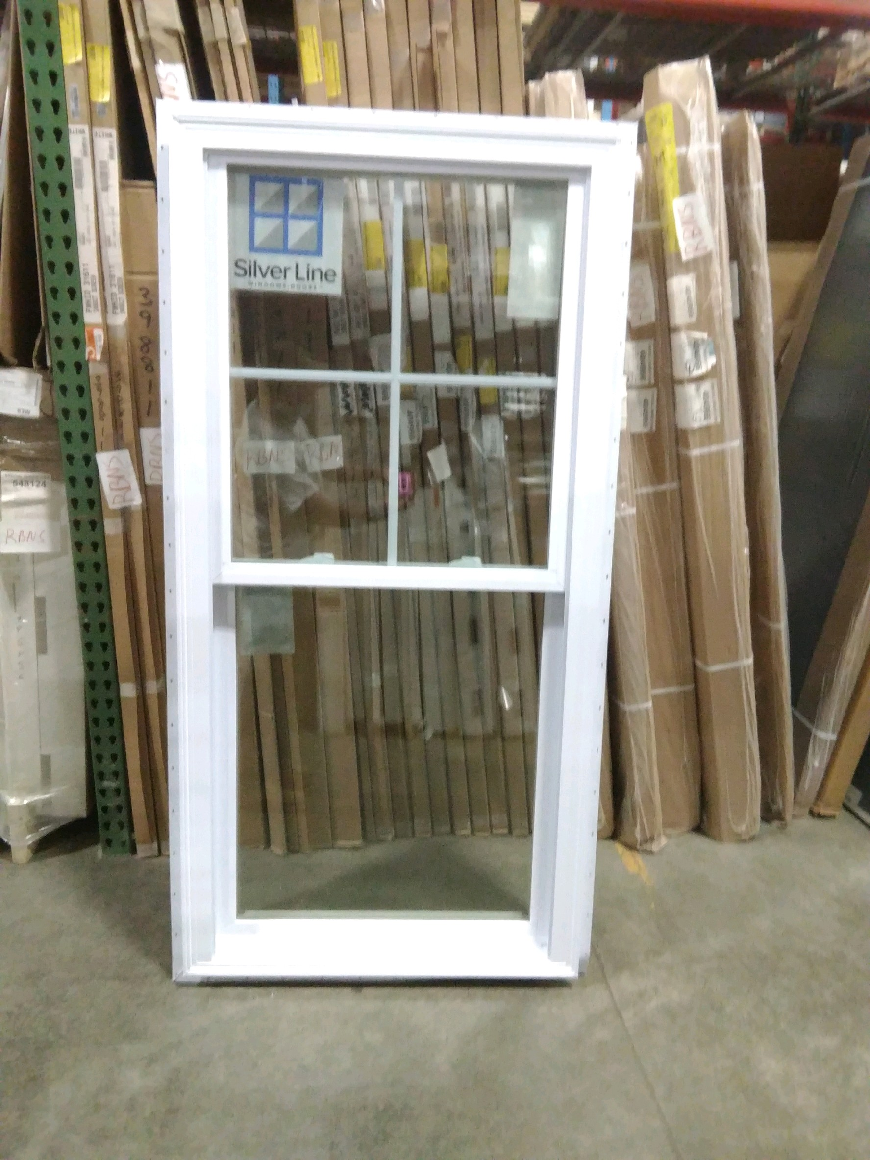 Silverline Double Hung Window. 4 over 1