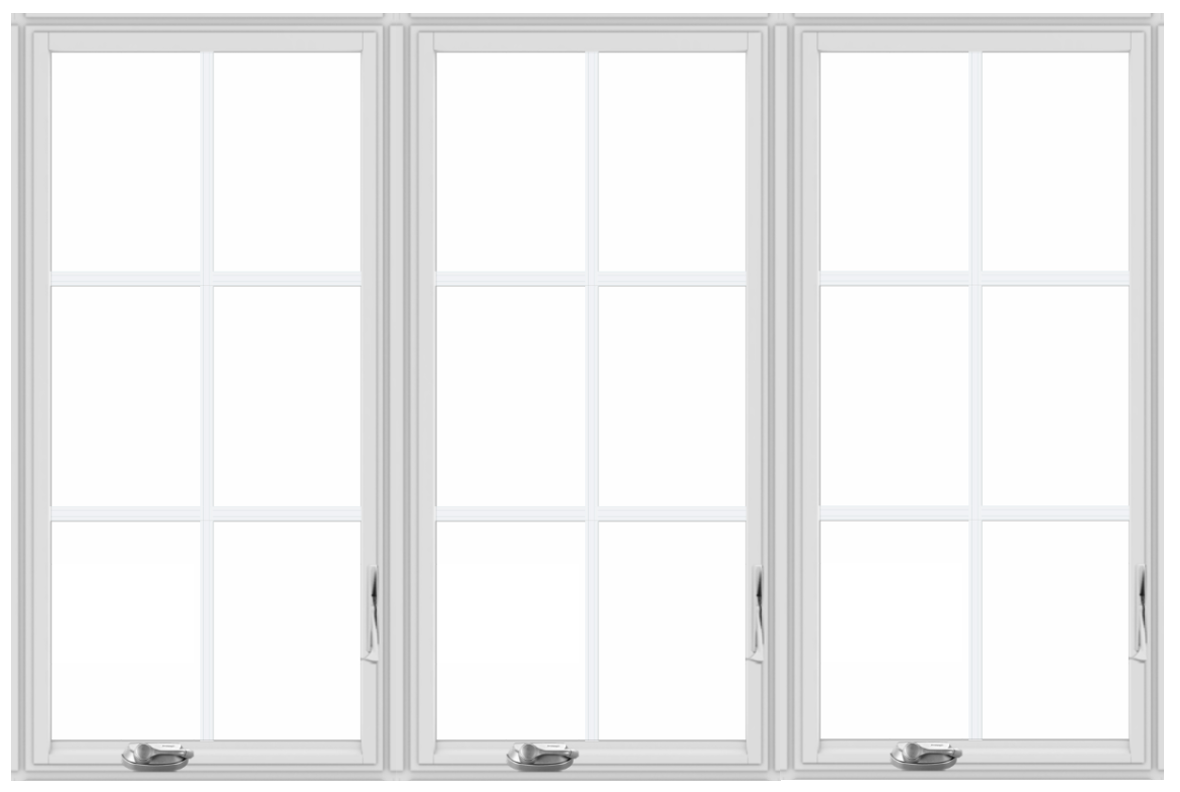 Andersen 400 Series Triple White Vinyl Wrapped LSR Handing Casement Window