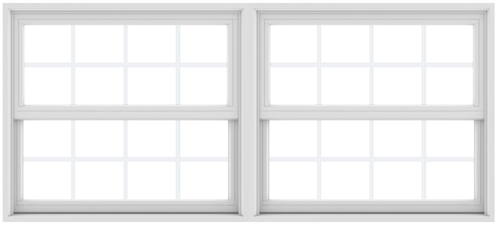 Andersen 200 Series Composite White Twin Windows w/Grilles