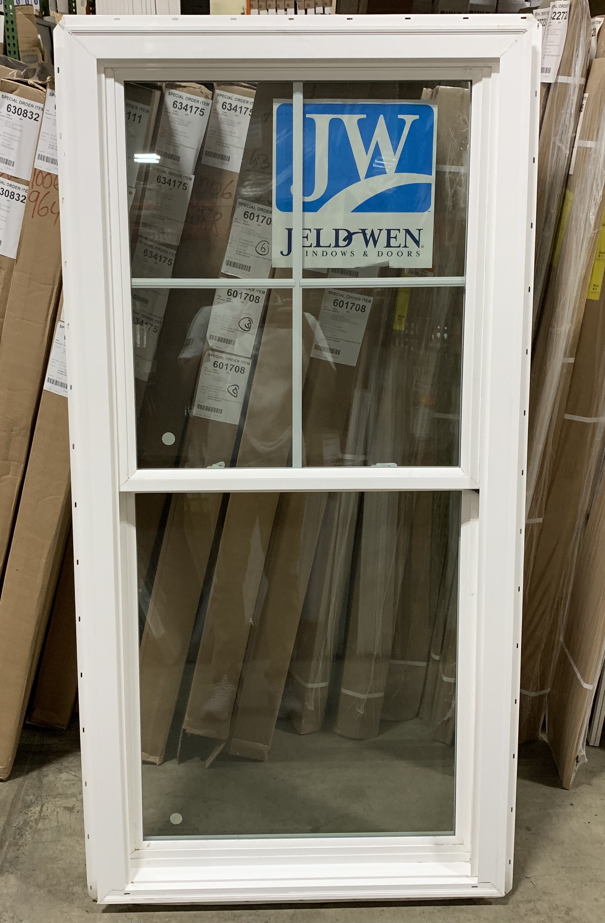 Jeld-Wen Brickmould Double Hung Vinyl Window