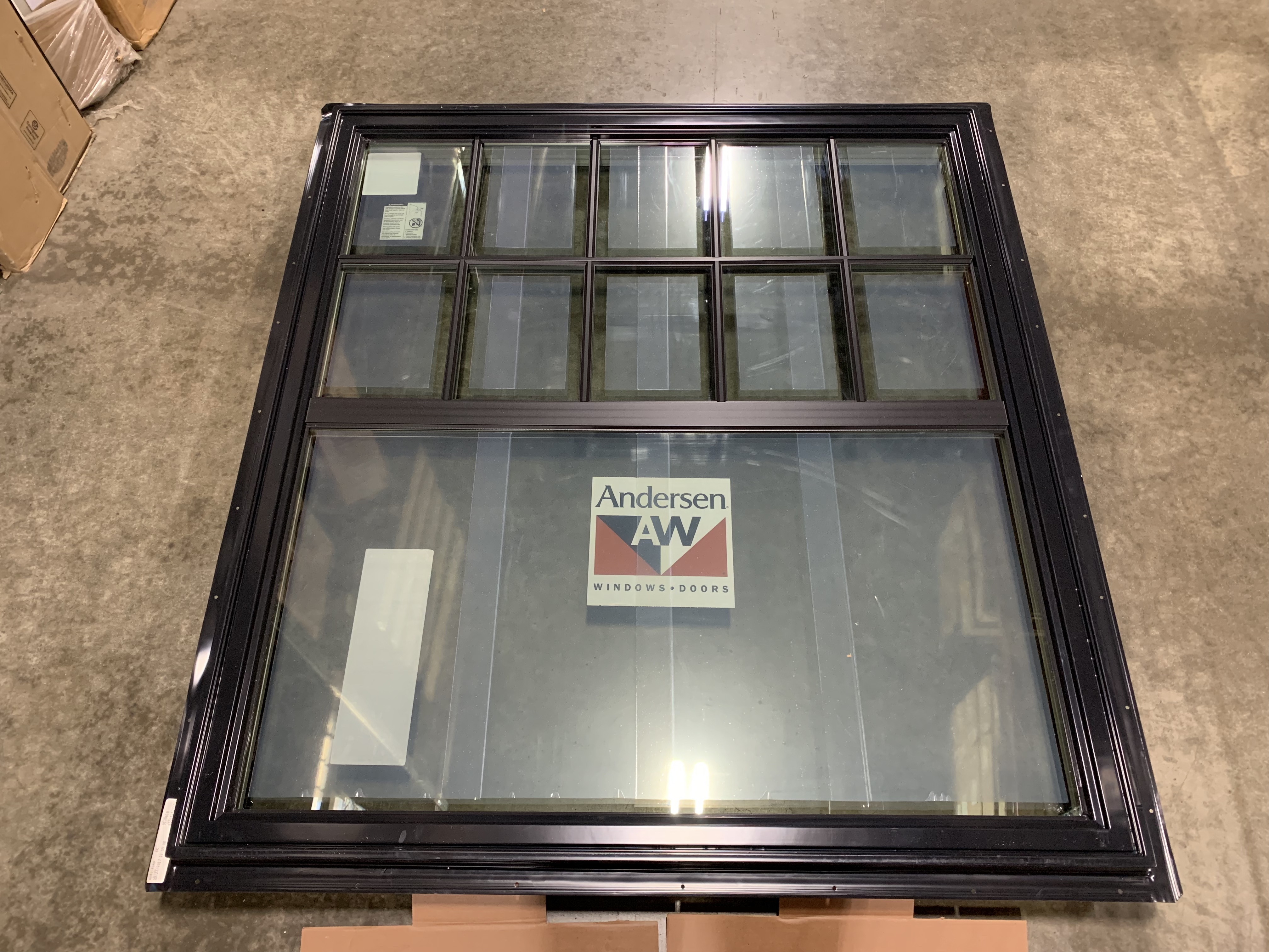 Andersen Black Casement Picture Window